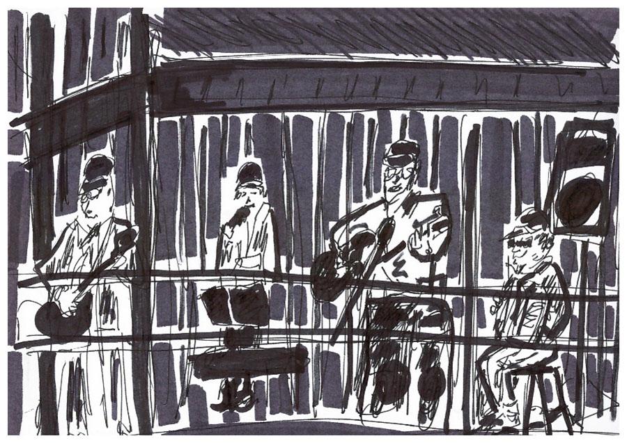 Concert en Bretagne, 2007 - dessin JTF