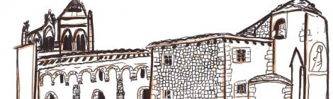 Die, la cathédrale - dessin JTF