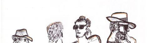 Die, ligne d'épaules au café - dessin JTF
