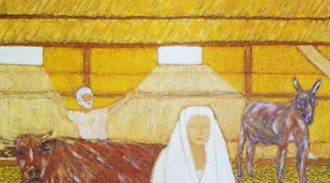 Nativité jaune - toile JTF