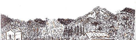 Un poulailler au Perrier - dessin JTF