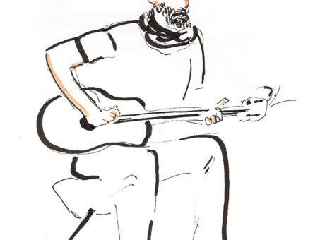 Le guitariste - dessin JTF