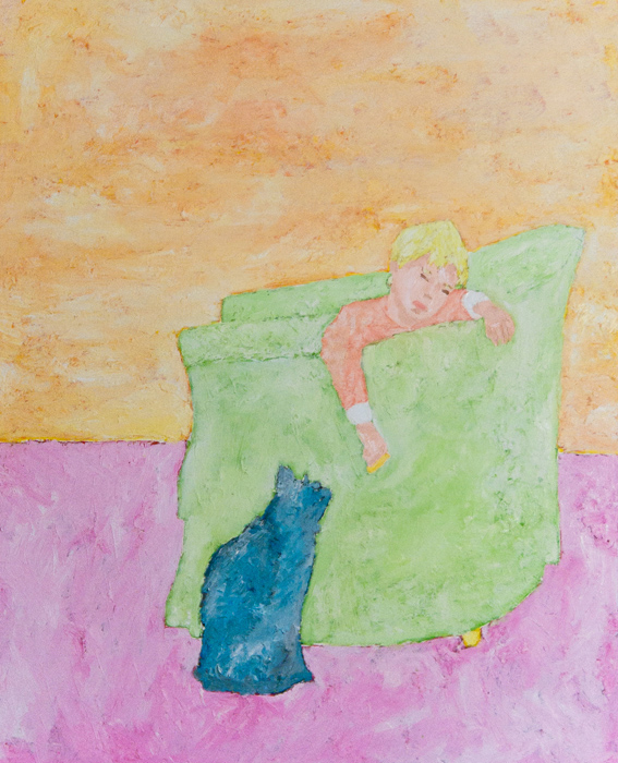 Solal et le chat bleu - toile JTF