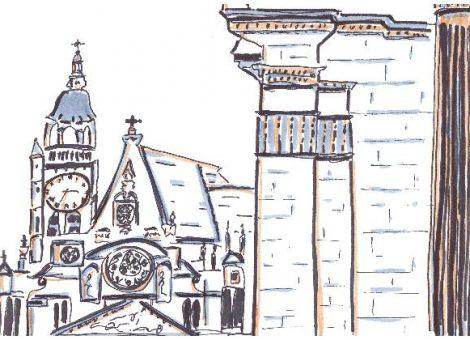 Une vue de l'église Saint-Étienne-du-mont