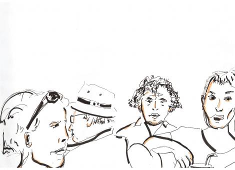 4 visages au café de Paris à Die