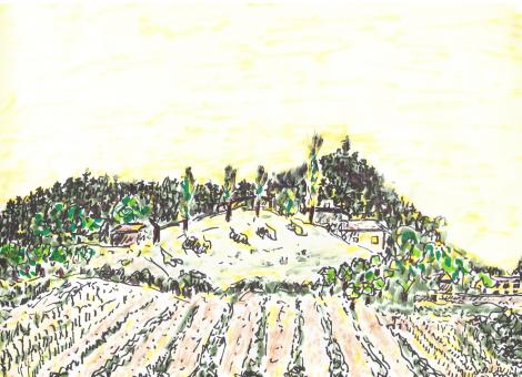 Une ferme entre Die et Romeyer