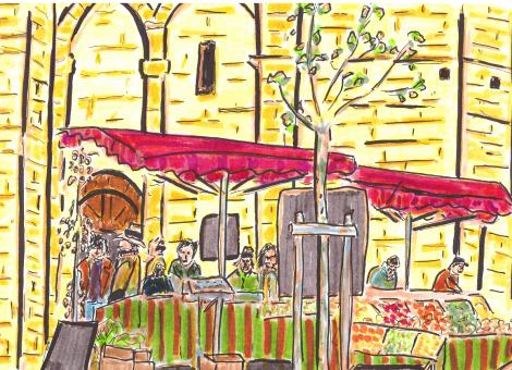 Le marché au soleil de la cathédrale