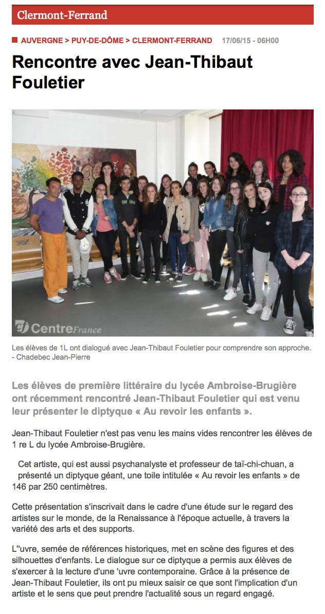 2015 juin - Clermont - Lycée A.Brugière