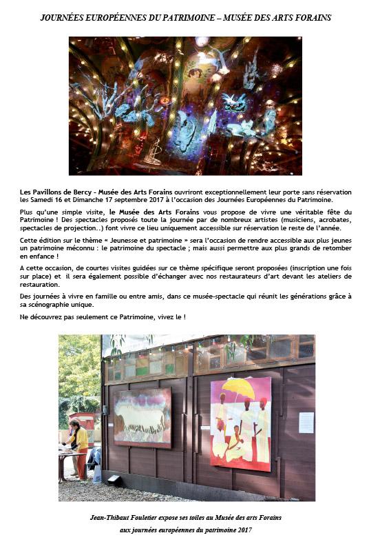 2017 sept.- Musée des Arts forains
