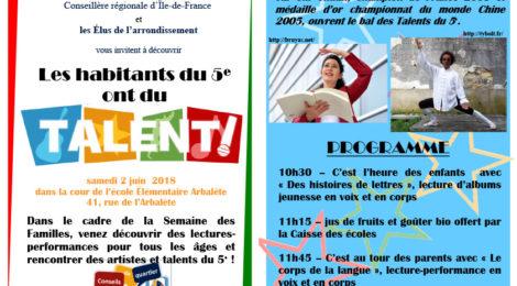 2018 juin - Talents du 5e - Paris