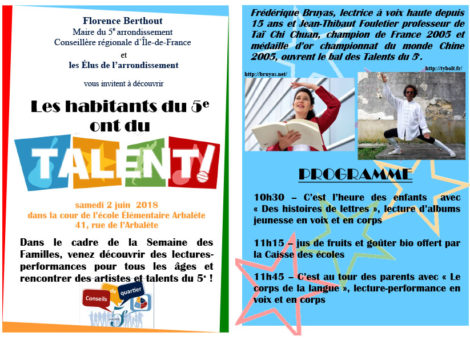 2018 juin - Talents du 5e - Paris