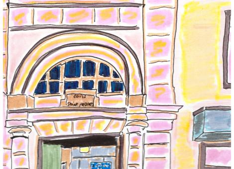 Rue Censier, entrée d'église