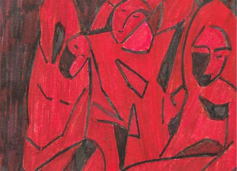 """Trois femmes"" - Picasso. Exposition Chtchoukine"