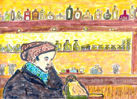 Un chanteur se repose au café Les Lys