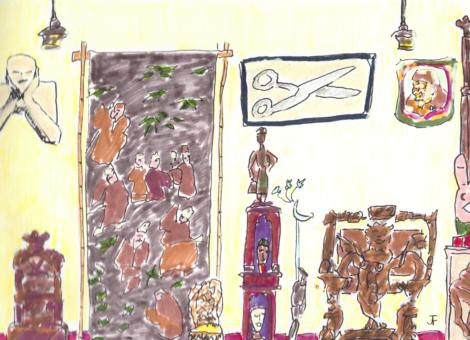 Recomposition du bureau de Jean-Paul Favand au musées des arts forains