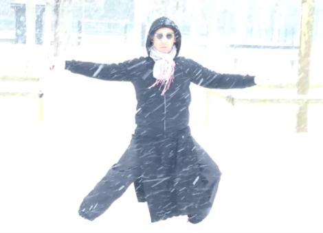 Taï Chi et neige au jardin du Luxembourg, 22 janvier 2019