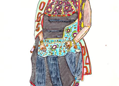 Madame Ismaël dans son habit traditionnel