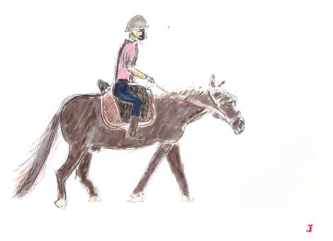 Solal fait du cheval
